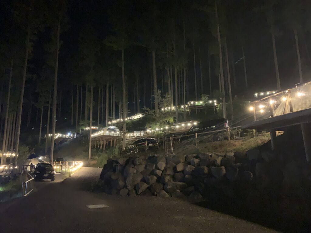 喜多川キャンピングベース 夜景